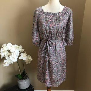 Lilly Pulitzer Multicolor Silk Dress 3/4 Sleeve